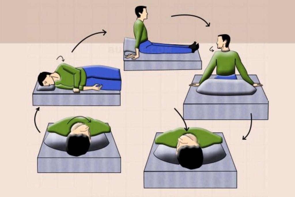 Epley maneuver exercise for Vertigo